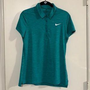 Nike Women's Golf Dri-Fit Polo Shirt-Green